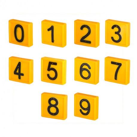 PLAQUETTES NUMEROTEES